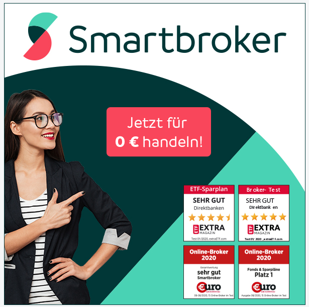 Ab 0 Euro bei Smartbroker Aktien handeln