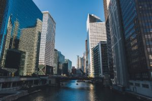 Wolkenkratzer & Gebäude einer Finanzmetropole