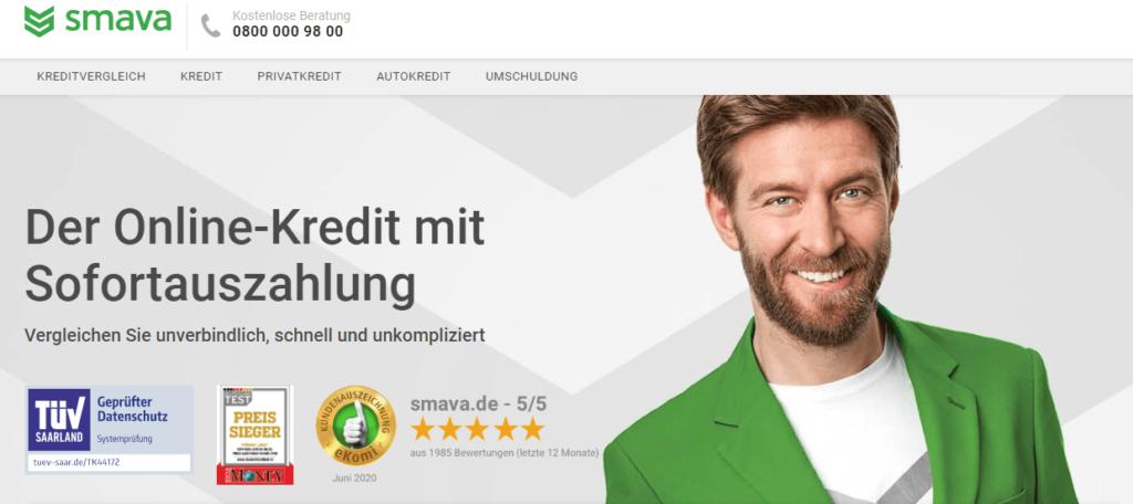 Bei Smava gibt es den Online-Kredit mit Sofortauszahlung
